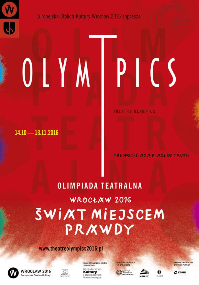 Plakat Olimpiada Teatralna Wrocław 2016