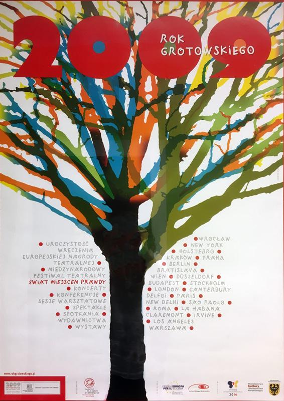 """Plakat Festiwal Teatralny """"Świat miejscem prawdy"""""""