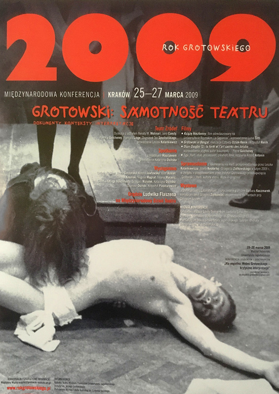 "Plakat ""Grotowski: samotność teatru"""