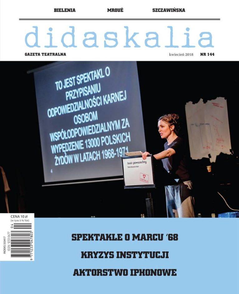 "Gazeta Teatralna ""Didaskalia"" nr"