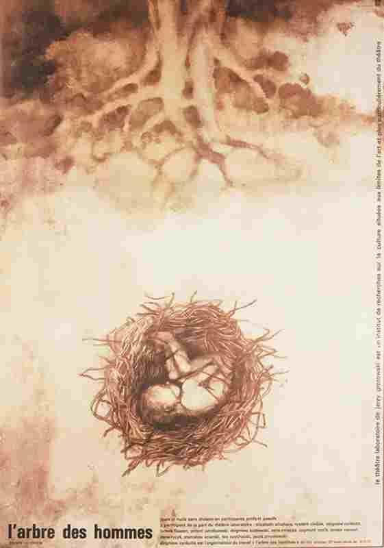 """Plakat """"L'arbre des hommes"""" (Drzewo Ludzi)"""